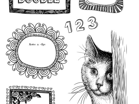 FREE NUMBER DOODLE WORKSHEETS Ages 4 to 7