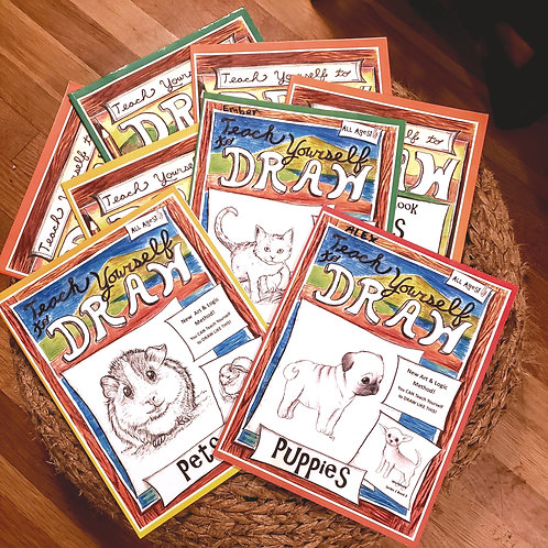 Draw Series 1 Paperback Bundle - Playful Pets