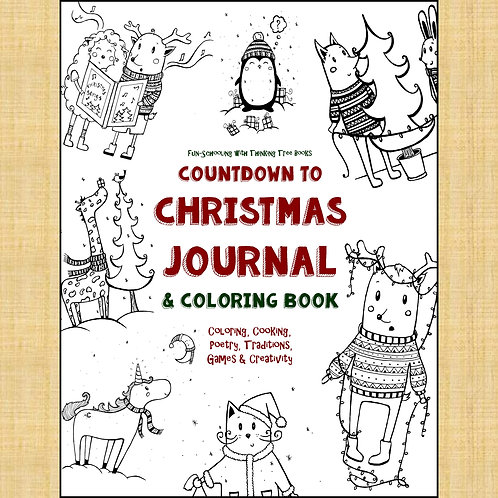 Countdown to Christmas Journal & Coloring Book - Print at Home