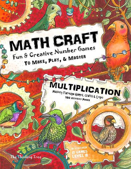 Math Craft Multiplication | Level B-1 Dyscalculia Games - PDF Print at Home