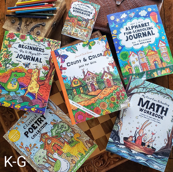 Kindergarten Girl's Curriculum Bundle (Ages 4-6)