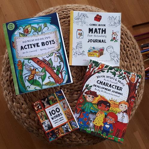 Active Boys Homeschooling Bundle - Ages 6-10   (#TTB-6)