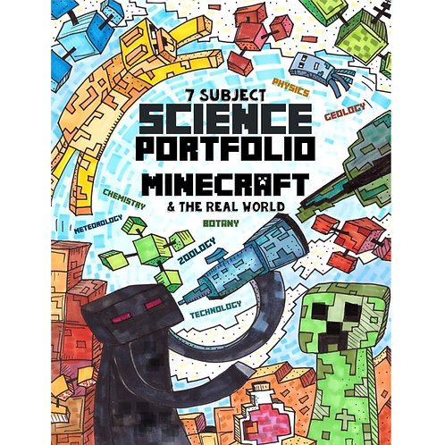 7 Subject Science Portfolio - Minecraft & The Real World - Full Color - PDF