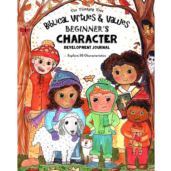 PDF - Biblical Virtues & Values - Beginner's Character Journal- Ages 4-8