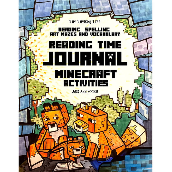 PDF- Reading Time Journal - Minecraft Themed -Reading, Spelling & More - Ages 7+
