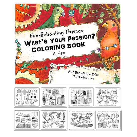PDF - Fun-Schooling Themes Coloring Book - What's Your Passion?