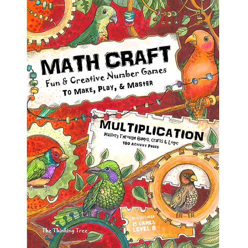 Math Craft Multiplication Level B-1 Dyscalculia Games - 180 Pages