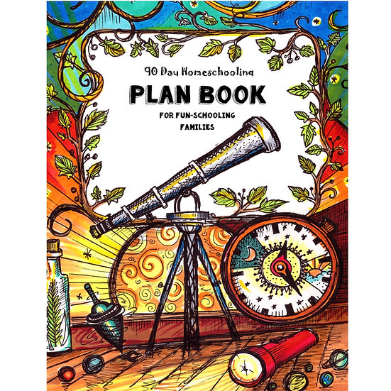 PDF - 90 Day Homeschooling Planner - For Fun-Schooling Families  - PDF