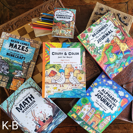 Kindergarten Boy's Curriculum Bundle (Ages 4-6)