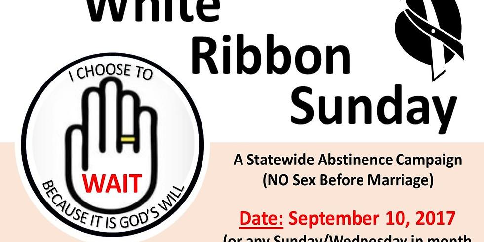 WHITE RIBBON SUNDAY