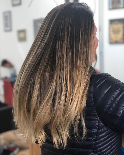 Balayage without the Orange.