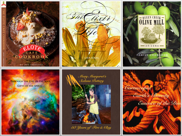 Cookbooks, Artists books  to Amaze