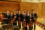 Violist Jonathan (Yizhi) Lee with the Orchestra of the Music Makers Viola Section