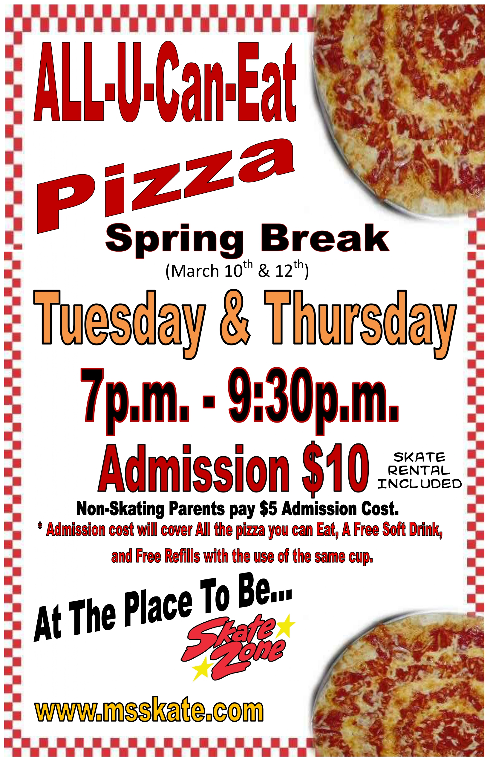 Spring break All u can eat pizza 2020_pa