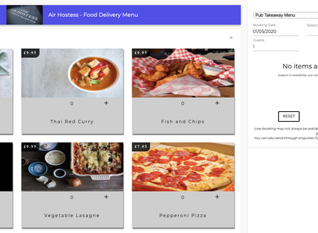 Online booking for businesses adapting to provide takeaway