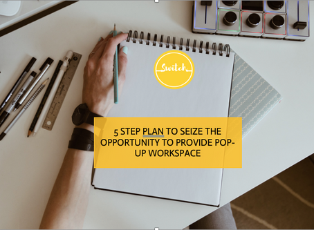 5 step plan to seize the opportunity to provide pop-up workspace.