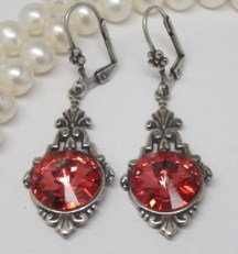 Earrings - Swarovski Padparadscha (Melon)