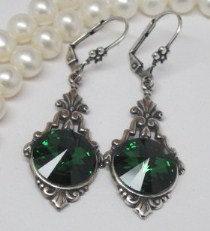 Earrings - Swarovski Emerald