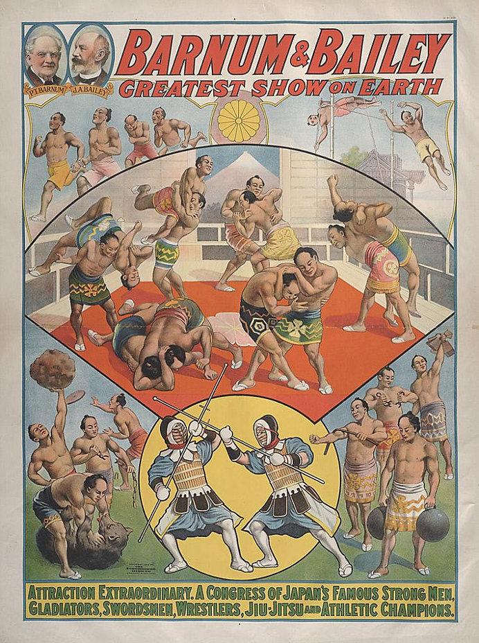 1914 Barnum & Bailey Japanese Wrestlers.