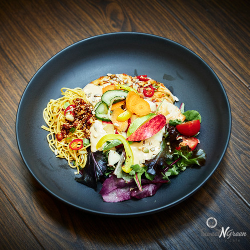 Sweet N Green Warm Thai chicken noodle salad