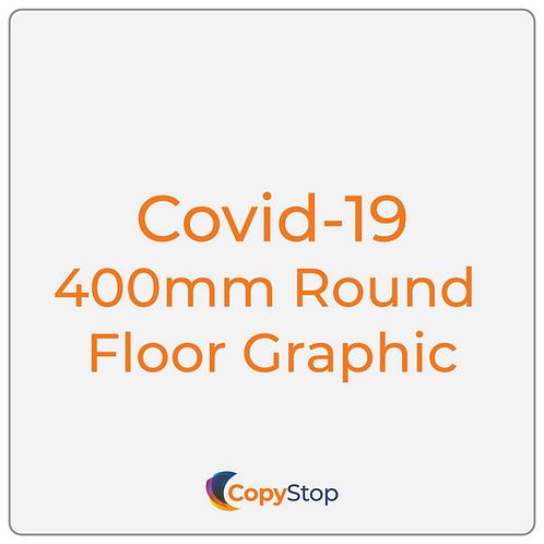 Covid-19 400mm Round Floor Graphic