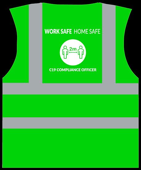 CoVid-19 Compliance Officer HiViz Vest - GREEN