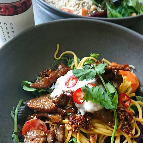 Asian Beef Noodle Salad - For Two