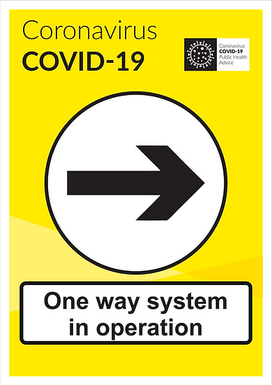 CoVid-19 One Way System – A3 corriboard