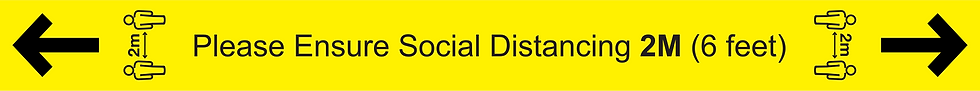 CoVid-19 SOCIAL DISTANCE – 1000mm W x 92mm H