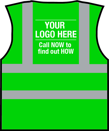 Your Logo Here HiViz Vest - GREEN