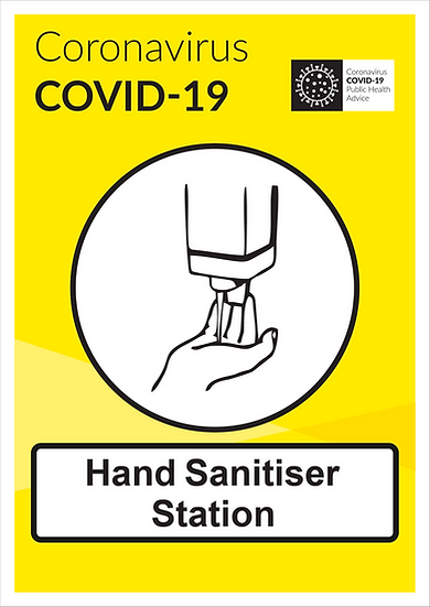 CoVid-19 Hand Sanitiser A3 PVC Wall-mounting sign