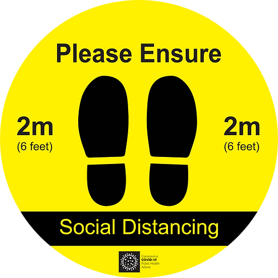 CoVid-19 SOCIAL DISTANCE – 400mm W x 400mm H