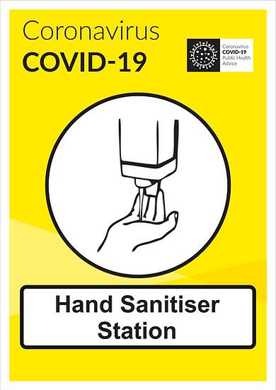 CoVid-19 Hand Sanitiser Station – A3 corriboard
