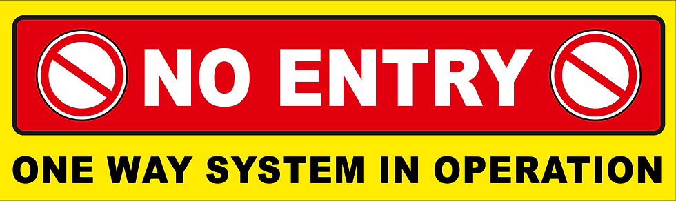 CoVid-19 NO ENTRY – 430mm W x 110mm H