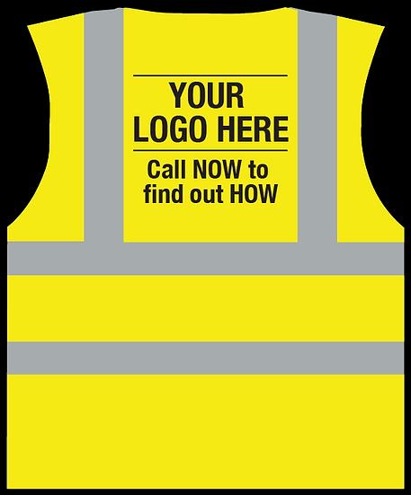 Your Logo Here HiViz Vest - YELLOW