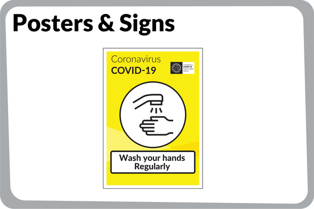 Co-Vid 19 Posters & Signs
