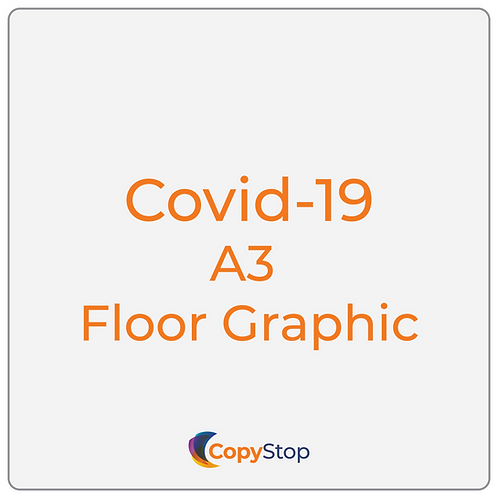 Covid-19 A3 Floor Graphic