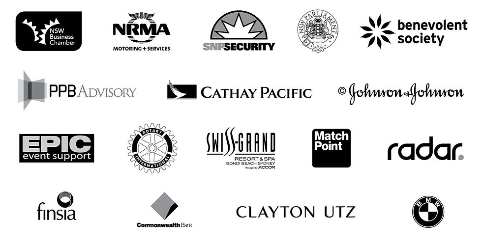 Logos of clients who have requested the graphic design services of Mandos Design.