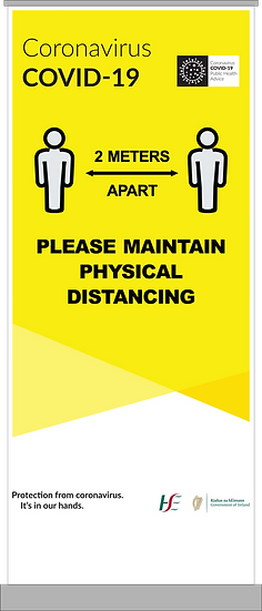 CoVid-19 Maintain Distance Pull-Up Banner