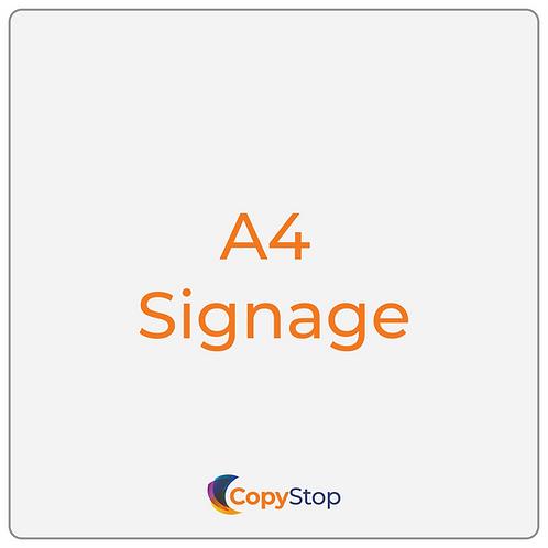A4 Signage