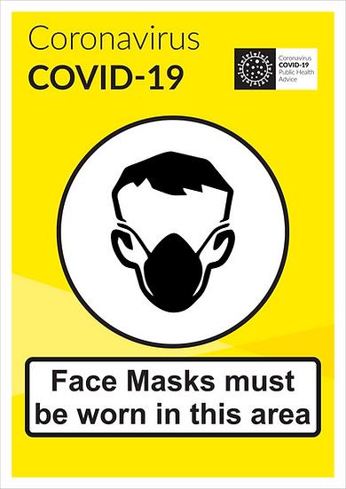CoVid-19 Face Masks – A3 corriboard