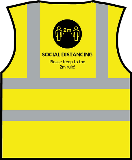 CoVid-19 Social Distancing HiViz Vest - YELLOW