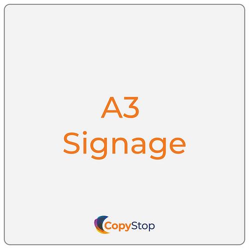 A3 Signage