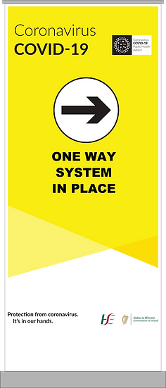 CoVid-19 One-Way System Pull-Up Banner