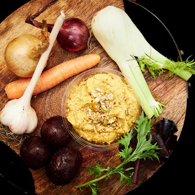 Sweet N Green Carrot hummus