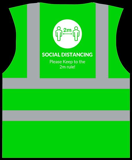 CoVid-19 Social Distancing HiViz Vest - GREEN