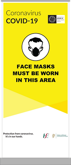 CoVid-19 Face Mask Pull-Up Banner