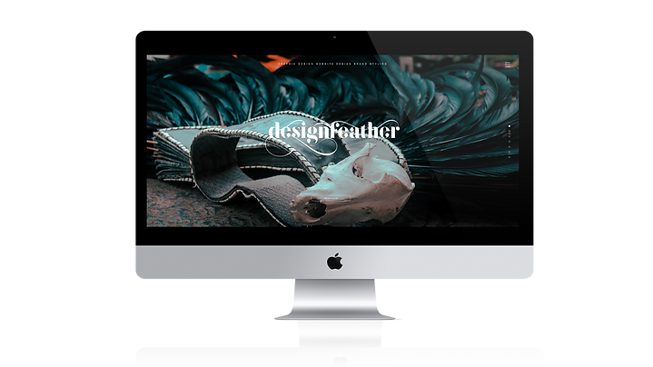 Home page of Design Feather graphic design Sydney