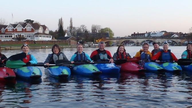 We're back paddling!