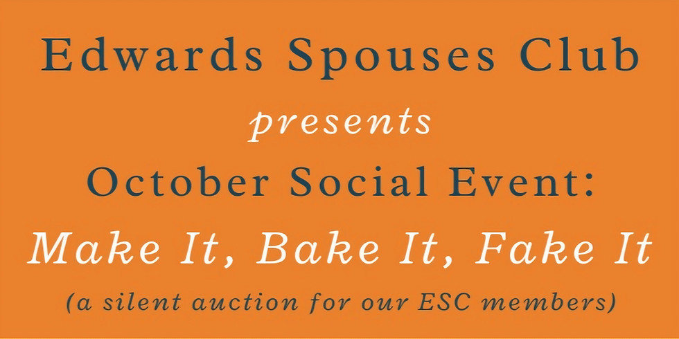Make It, Bake It, Fake It ; A social and fundraising event
